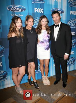 Sarah Connick, Jill Goodacre, Georgia Connick, Harry Connick and Jr.