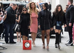 Fifth Harmony - Fifth Harmony pictured arriving at the Radio 1 studios at BBC Portland Place - London, United Kingdom...