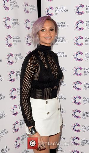 Alesha Dixon - James Ingham's Jog-On to Cancer held at the Kensington Roof Gardens - Arrivals - London, United Kingdom...
