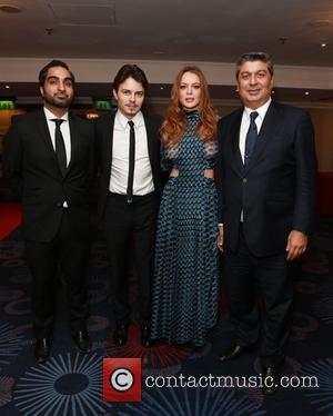 Egor Tarabasov and Lindsay Lohan