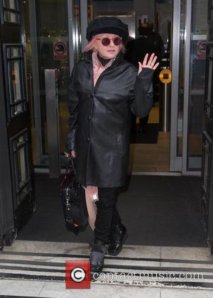 Cyndi Lauper - Cyndi Lauper pictured arriving at the Radio 2 studio at BBC Western House - London, United Kingdom...