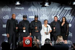 Dr. Dre, Ice Cube, Mc Ren, Kathie Wright and Dj Yella
