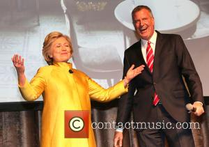 Hilary Clinton and Bill De Blasio