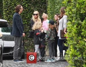 Petra Ecclestone, Lavinia Stunt, Andrew Stunt and James Stunt Jr.
