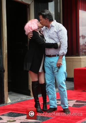 Cyndi Lauper , David Thornton - Cyndi Lauper and Harvey Fierstein Honored with A Double Walk Of Fame Star at...