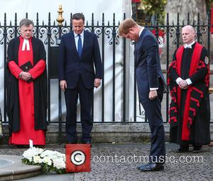 Prince Harry and David Cameron Mp