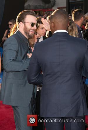 Chris Evans , Anthony Mackie - Celebriteis attend the World Premiere of 'Captain America: Civil War' at Dolby Theatre in...