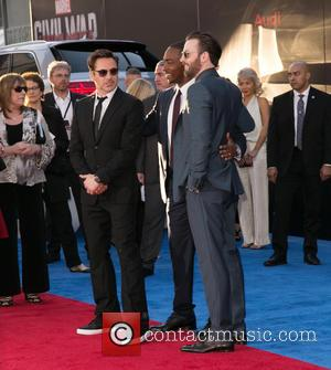 Robert Downey Jr., Anthony Mackie and Chris Evans