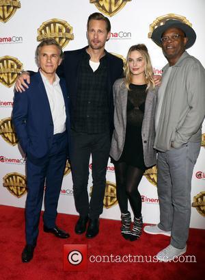 Christophe Waltz, Alexander Skarsgard, Margot Robbie and Samuel L. Jackson