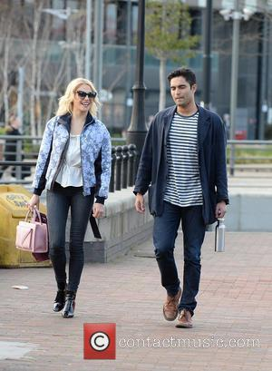 Pixie Lott - Pixie Lott out and about with a male friend in Salford Quays,  before appearing in Breakfast...