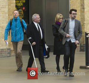 Eamonn Holmes , Ruth Langsford - Eamonn Holmes and Ruth Langsford seen leaving for Sunderland at Kings Cross Station to...