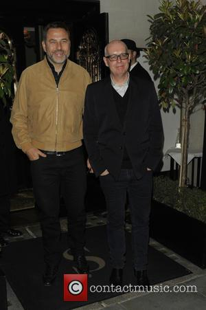 David Walliams , Neil Tennant - Celebrities at Scott's restaurant - London, United Kingdom - Thursday 14th April 2016