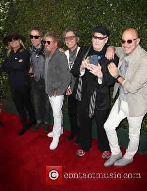 Chad Smith, Robin Zander, Daxx Nielsen, Tom Petersson, Michael Anthony, Sammy Hagar, Rick Nielsen, Vic Johnson and John Varvatos