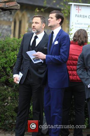 David Walliams - Funeral of ronnie corbett - London, United Kingdom - Monday 18th April 2016