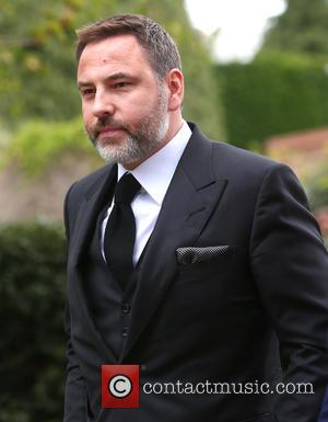 David Walliams - The funeral of Ronnie Corbett at The Parish Church of St. John the Evangelist in Shirley, Croydon...