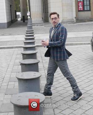 Robert Downey jr , Robert Downey junior - Robert Downey junior seen visiting the US embassy in Berlin - Berlin,...