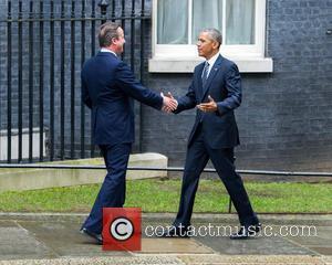 Barack Obama , David Cameron - US President, Barack Obama on his visit to Number 10 Downing Street. Obama is...