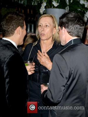 Michael Feinstein, Martina Navratilova and Guest