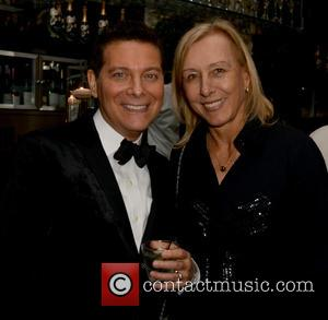Michael Feinstein and Martina Navratilova
