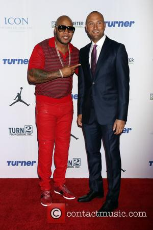 Flo Rida and Derek Jeter
