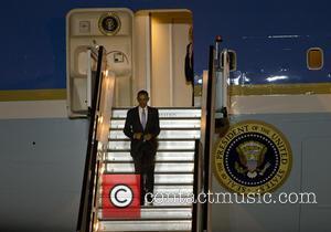 Barack Obama - U.S. President Barack Obama arrives at London Stansted Airport - London, United Kingdom - Thursday 21st April...