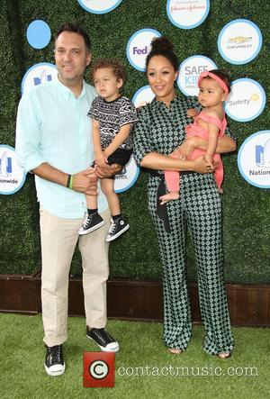 Tamera Mowry, Husband Adam Housley, Son John Tanner Housley and Daughter Ariah Talea Housley