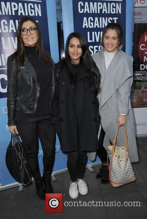 Kym Marsh, Sair Khan and Brooke Vincent