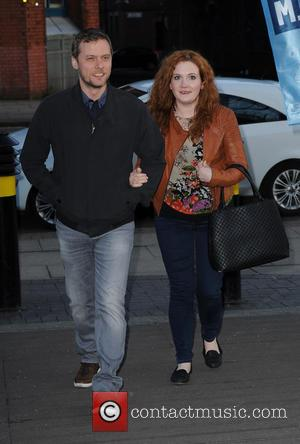 Jennie McAlpine , Chris Farr - Celebrities arrive at Keep C.A.L.M we are a man down. A night of Comedy...