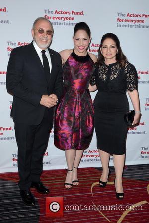 Emilio Estefan, Andrea Burns and Gloria Estefan