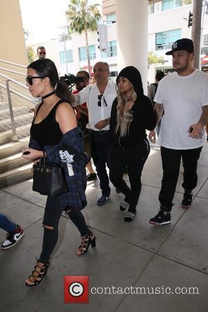Kim Kardashian, Blac Chyna and Rob Kardashain