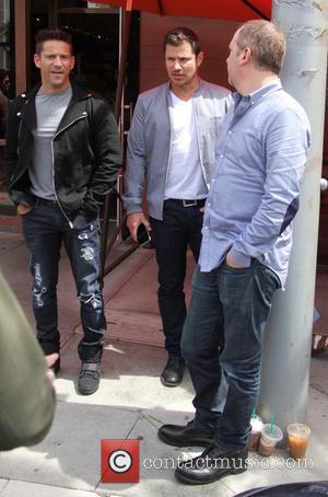 Nick Lachey, Justin Jeffre and Jeff Timmons