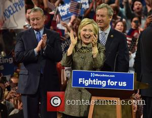 Jim Kenney and Hillary Clinton