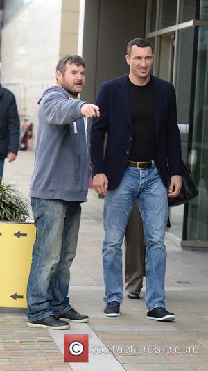 Wladimir Klitschko - Wladimir Klitschko arrives at BBC Studios Media City UK, Manchester - Manchester, United Kingdom - Wednesday 27th...
