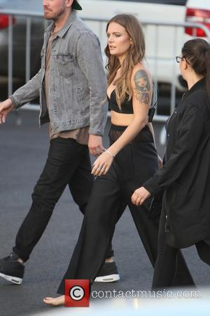 Tove Lo - Tove Lo seen headed to the stage before her performance on Jimmy Kimmel Live at Hollywood -...