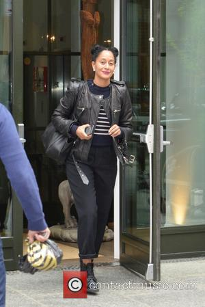 Tracee Ellis Ross - Tracee Ellis Ross leaving her hotel - Manhattan, New York, United States - Friday 29th April...