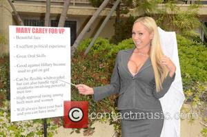 Mary Carey - Former Celebrity Rehab star Mary Carey poses for a photoshoot to announce she wants to be Donald...
