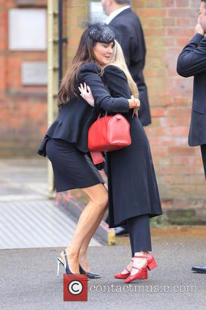 Lizzie Cundy - David Gest's funeral at Golder's Green Crematorium - London, United Kingdom - Friday 29th April 2016