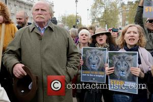 James Cosmo and Protestors