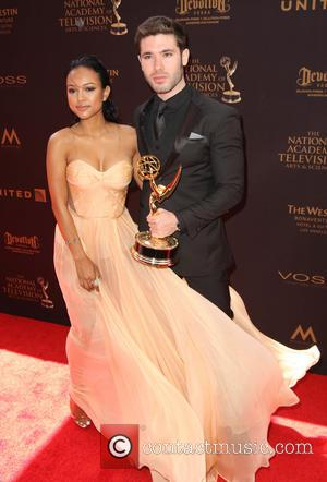 Karrueche Tran , Kristos Andrews - 43rd Annual Daytime Emmy Awards Arrivals 2016 held at the Westin Bonaventure Hotel and...