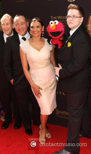 Sonia Manzano, Alan Muraoka and Elmo
