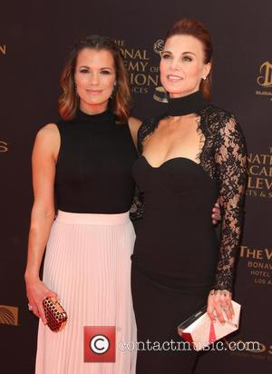 Melissa Claire Egan , Gina Tognoni - 43rd Annual Daytime Emmy Awards Arrivals 2016 held at the Westin Bonaventure Hotel...