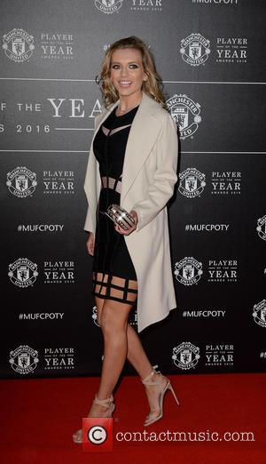 Rachel Riley - Celebrities and players arrive at Manchester United Football Club, Old Trafford, Manchester for Manchester United Player Of...