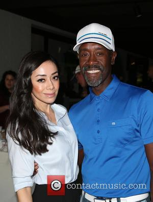 Aimee Garcia and Don Cheadle