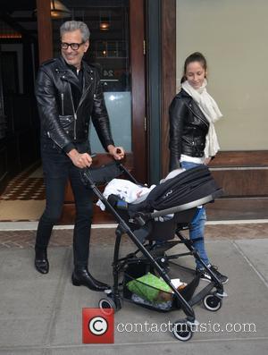 Jeff Goldblum, Emilie Livingston and Charlie Ocean Goldblum