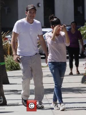Mila Kunis , Ashton Kutcher - Mila Kunis and Ashton Kutcher get a sweet treat from McConnell's Fine Ice Cream...