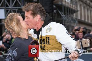 Hayley Roberts , David Hasselhoff - Hayley Roberts and David Hasselhoff at the  Gumball Rally Regent Street - London,...