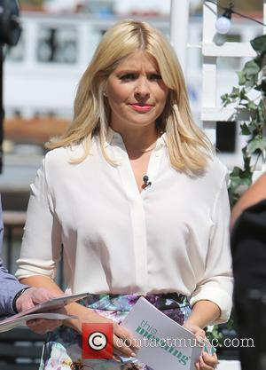 Holly Willoughby - Holly Willoughby filming This Morning on the south bank - London, United Kingdom - Tuesday 3rd May...