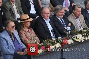 Spain Juan Carlos , Princess Elena de Borbon - King Juan Carlos of Spain and Princess Elena de Borbon attend...