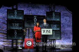 Nikki M James , Andrew Rannells - 2016 Tony Awards Nominations Announcement at Tony Awards - New York, New York,...