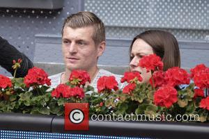 Toni Kroos , Jessica Farber - Toni Kroos and his pregnant wife Jessica Farber attend the Mutua Madrid Open at...